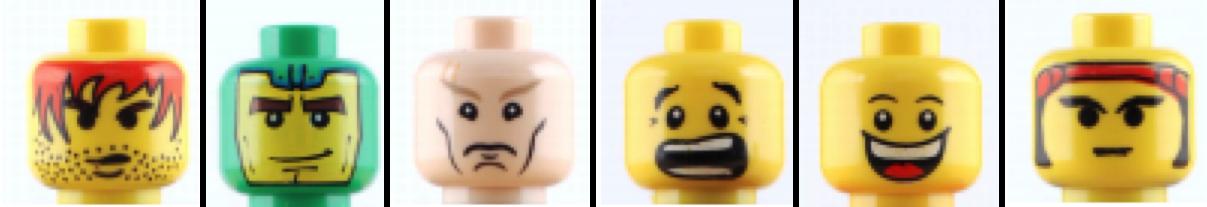 Different minifigure faces