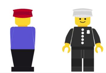 1975 vs 1978 Lego minifigure
