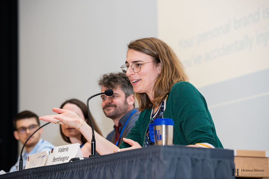 Photo from during the panel