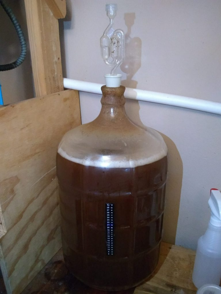 The fermentor with the S-stop on top, all cleaned up now!